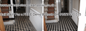 Oakham-Uppingham-Edwardian-Victorian Natural Stone-Tiled Floor Washing & Sealing Services.