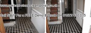 Oakham-Uppingham-Edwardian-Victorian Natural Stone-Tiled Floor Washing & Sealing Services.