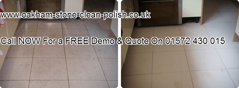 Oakham-Uppingham Limestone Natural Tiled Floor Washing & Polishing Services.