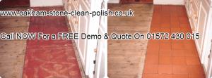Oakham-Uppingham Quarry Tiled Natural Floor Washing & Sealing Services01572 430 015.