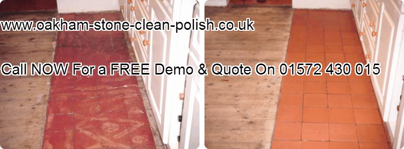 Oakham-Uppingham Quarry Tiled Natural Floor Washing & Sealing Services.