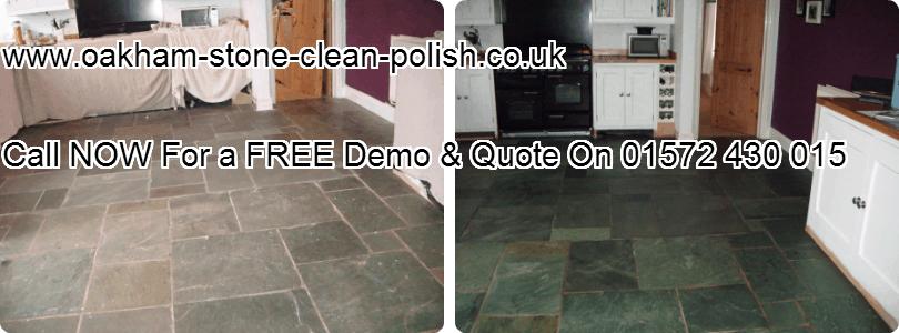 Oakham-Uppingham Slate Natural Stone Floor Washing & Polishing Services.