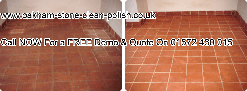 Oakham-Uppingham Terracotta Natural Hard Floor Washing & Sealing Services.