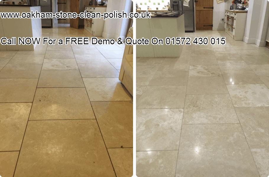 Oakham-Uppingham Travertine Natural Hard Floor Washing & Polishing Services.